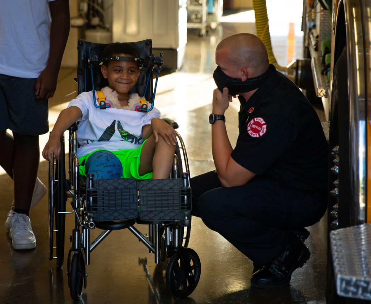 Firefighters honr real-life hero