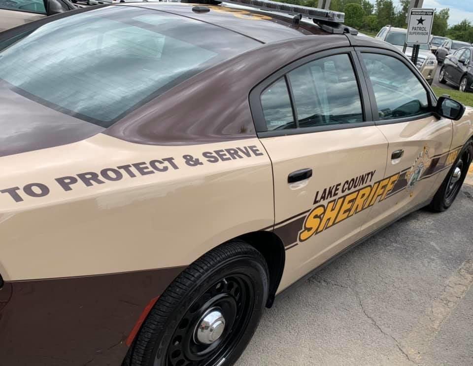 Lake County Sheriff Car stock