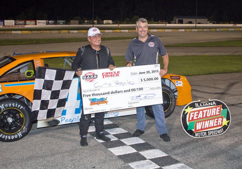 south carolina racer curtis peeples wins 5000 at illiana. Black Bedroom Furniture Sets. Home Design Ideas
