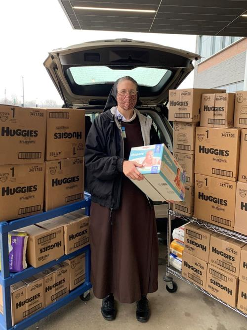 Franciscan Health collects more than 44,000 diapers for needy families