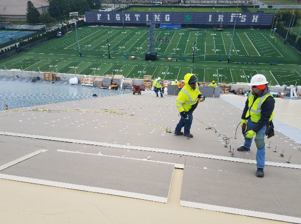 Hammond-based Korellis Roofing helping build indoor practice facility for Notre Dame football