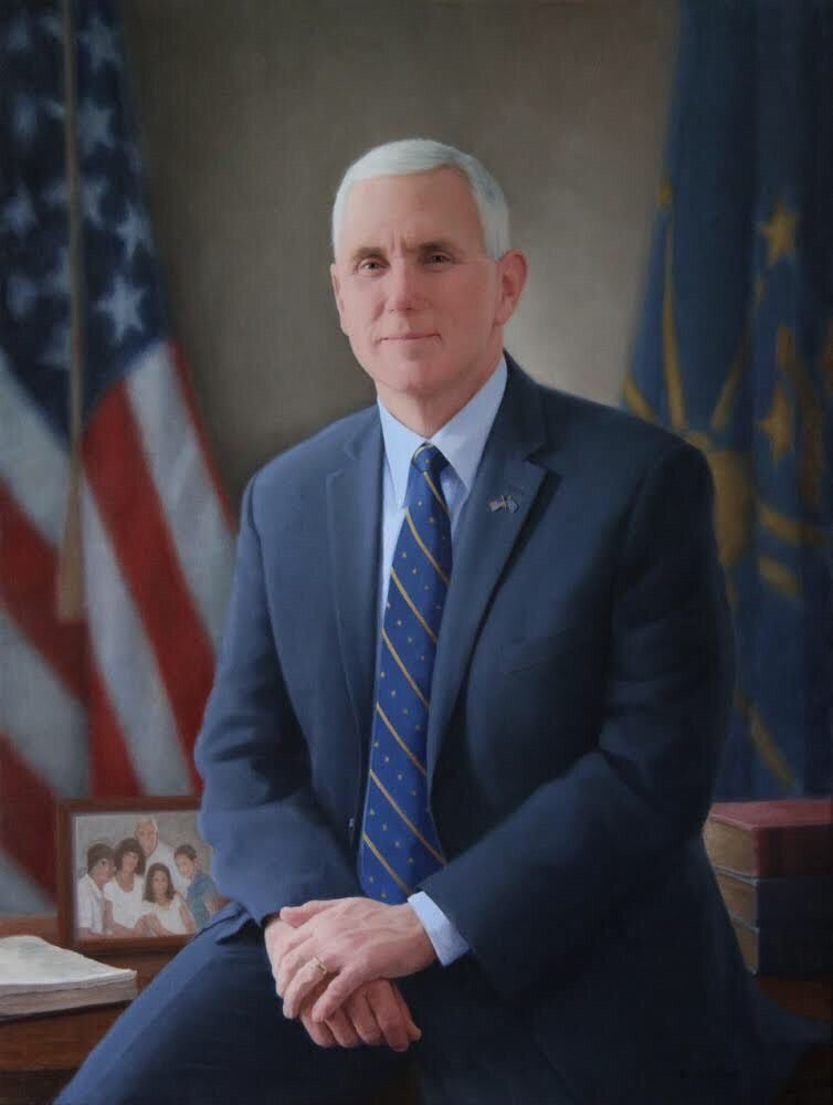 Official portrait of Gov. Mike Pence