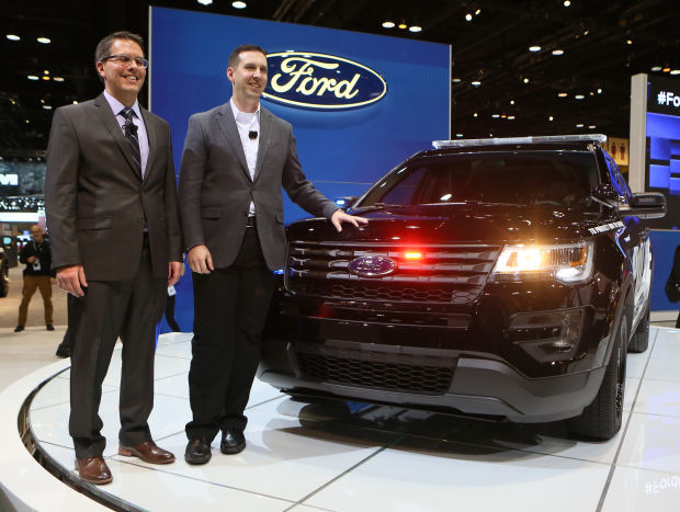 Ford unveils new Police Interceptor in its hometown