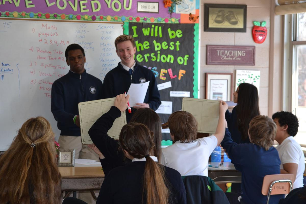 Bishop Noll students at Our Lady of Grace school