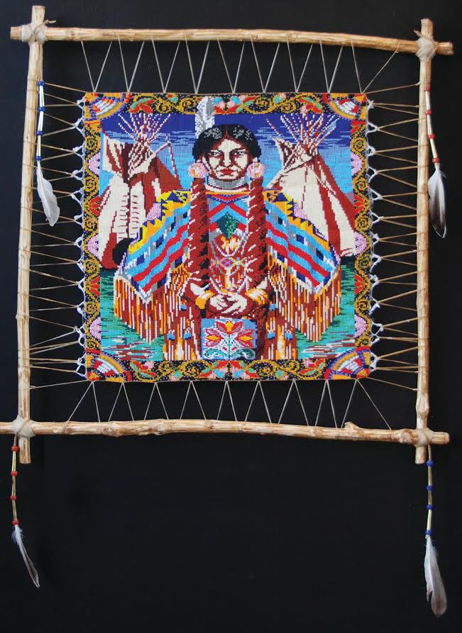 An Indian beaded hanging