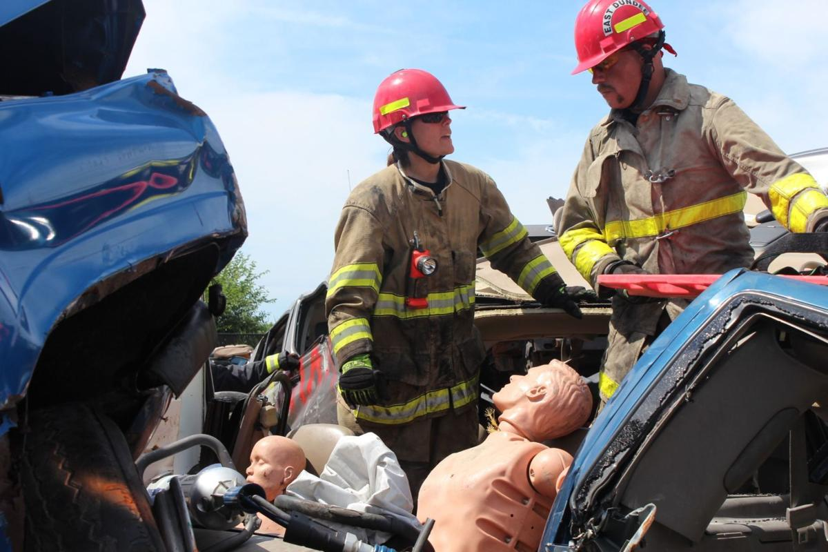NIPSTA firefighters training car crash