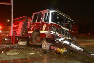 Indianapolis firefighters escape serious injury after crash