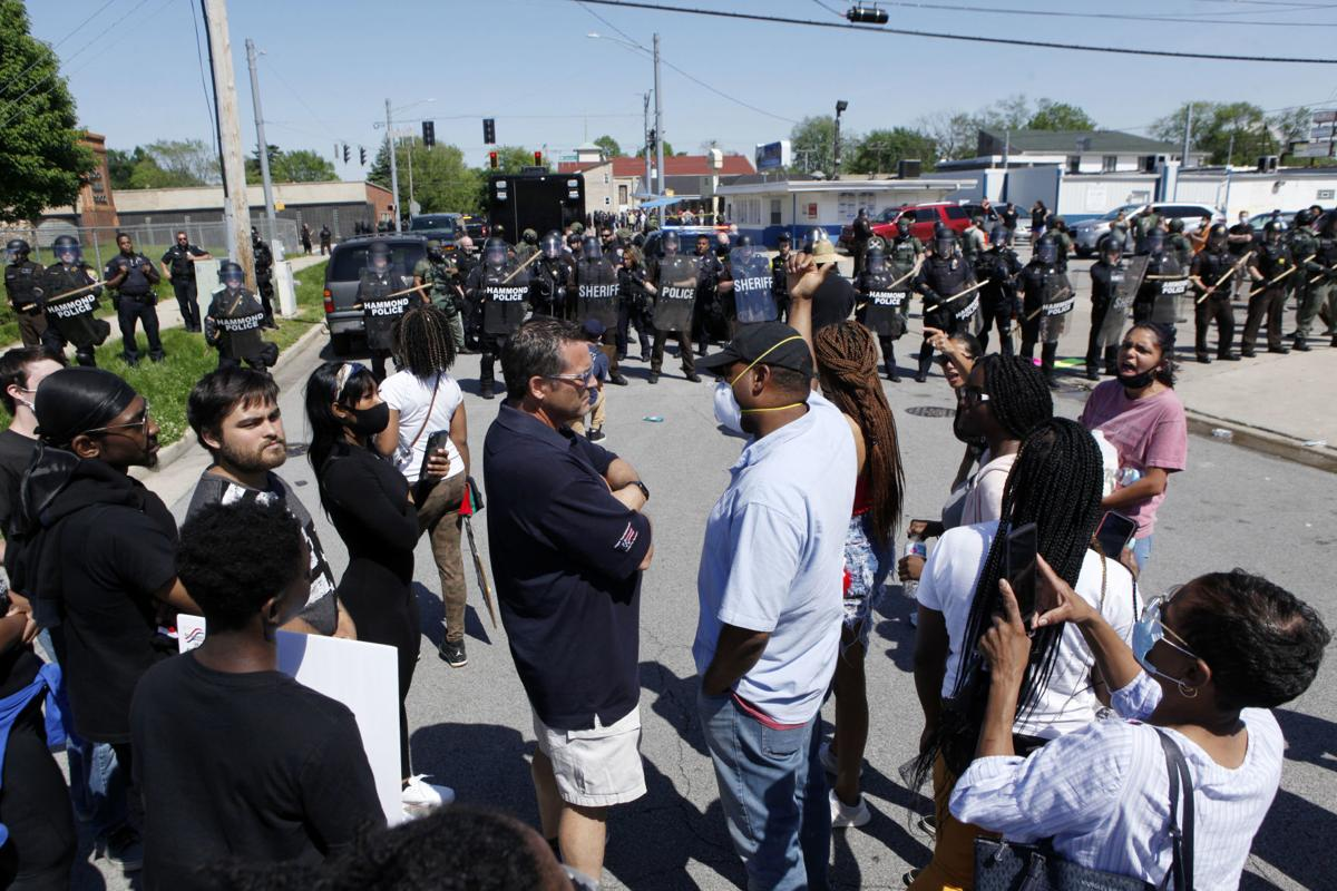 Hammond protests in solidarity with Minneapolis