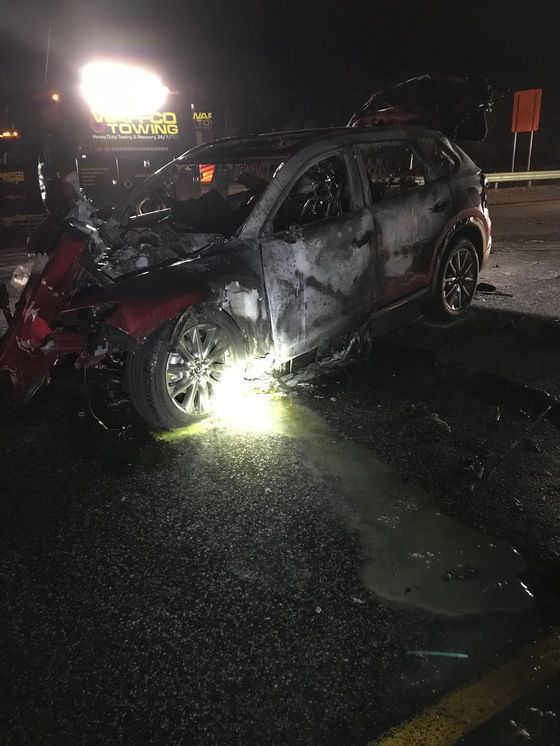 UPDATE: Porter man dead after fiery crash Tuesday night on I-80/94