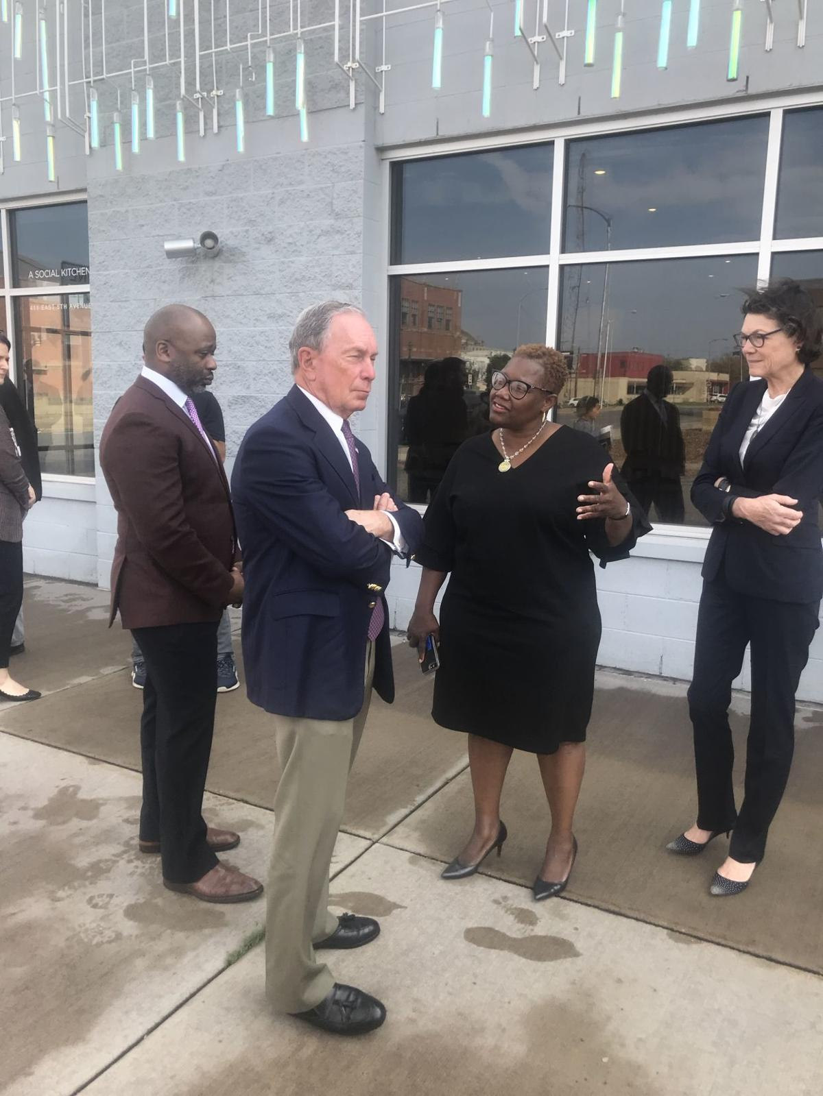 Mike Bloomberg visits ArtHouse he funded in downtown Gary