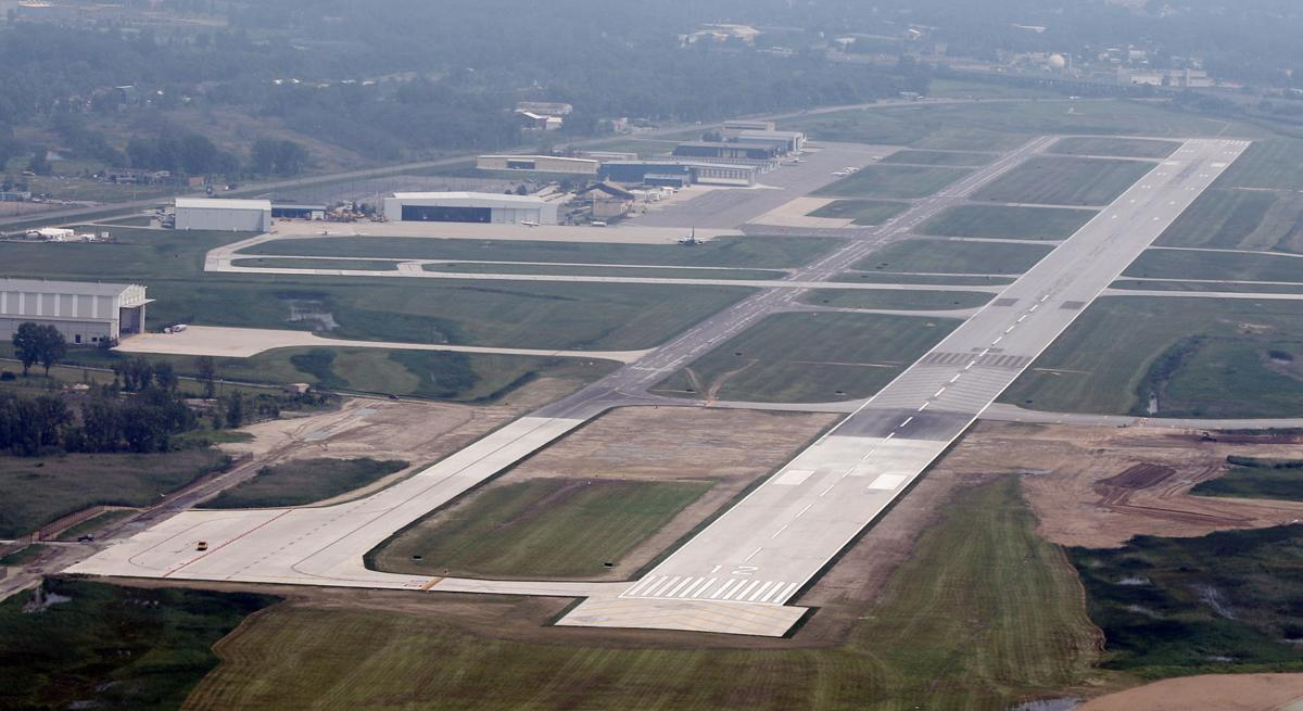 Aerial view of the Gary-Chicago International Airport with its newly extended runway. (copy)