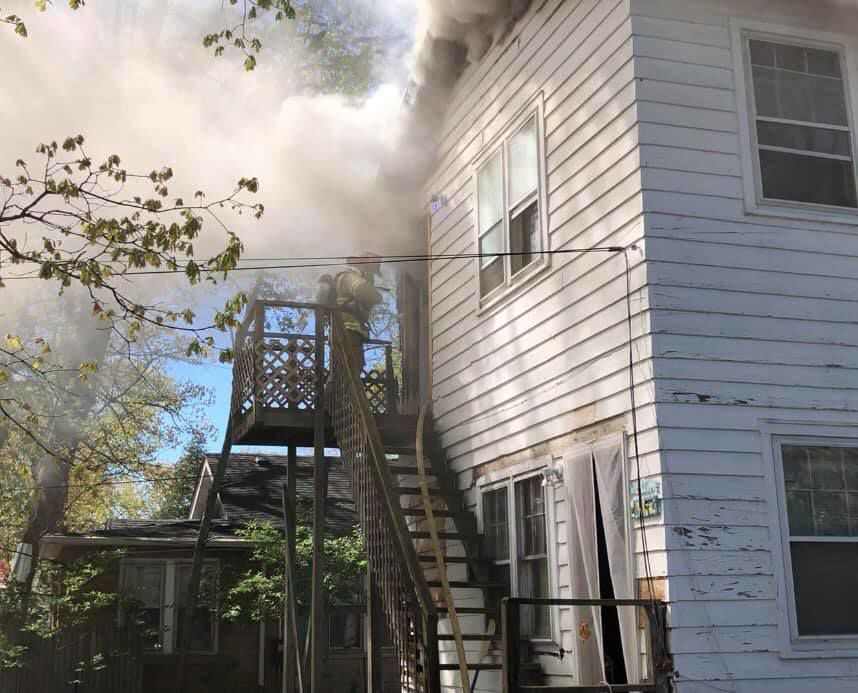 Downtown Hobart apartment fire