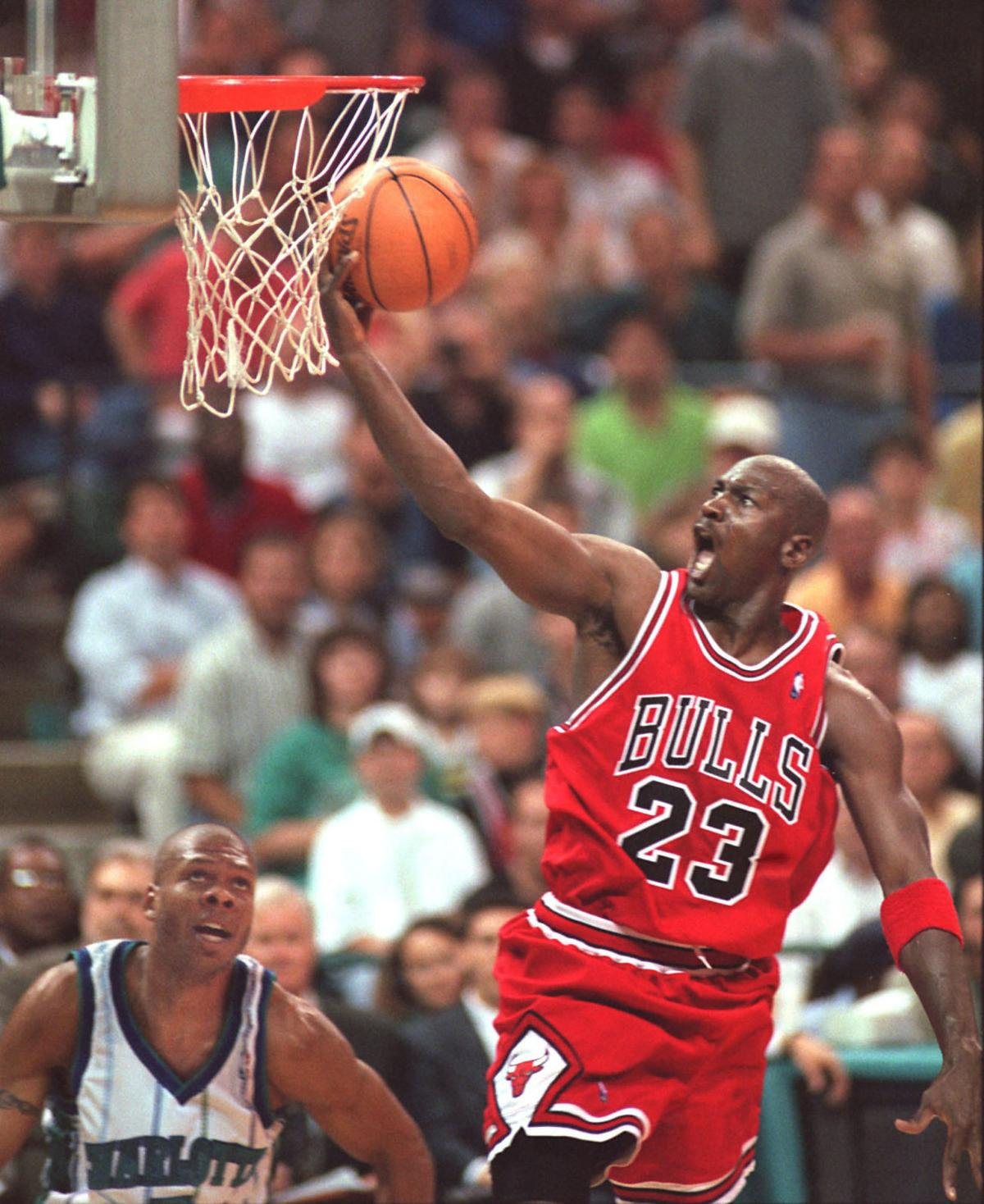 As a player, Michael Jordan (23) owned the Charlotte Hornets and everyone else. As an owner, his Hornets have been mired in mediocrity for the past two decades.