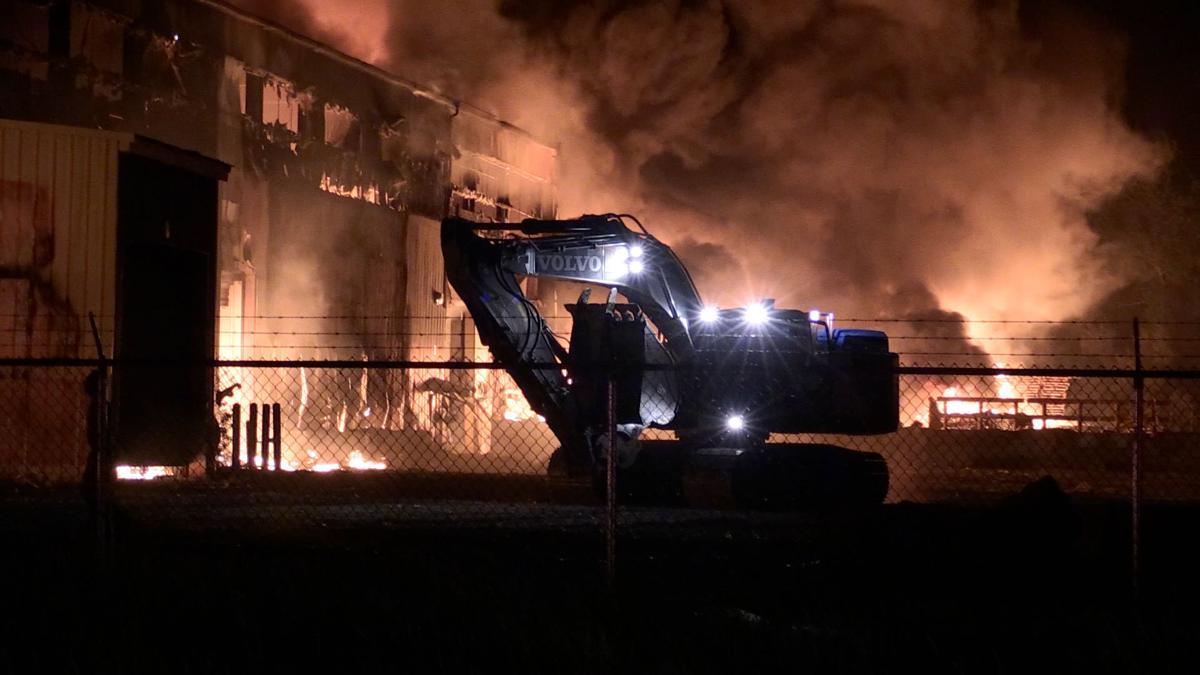 Fire Fighters Battle Massive Blaze in Gary Overnight