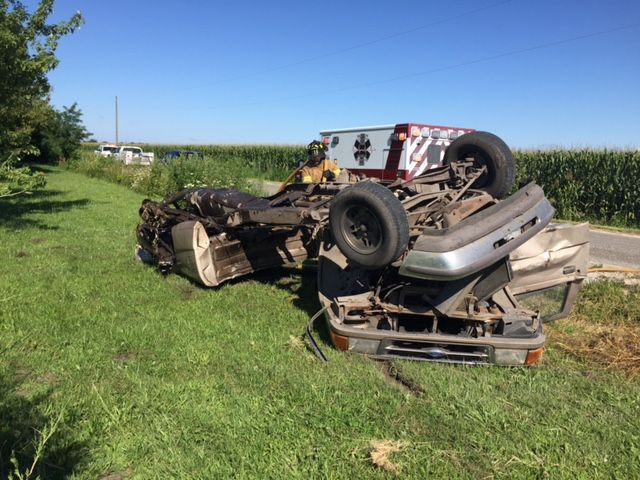 Schneider man hurt in serious car wreck