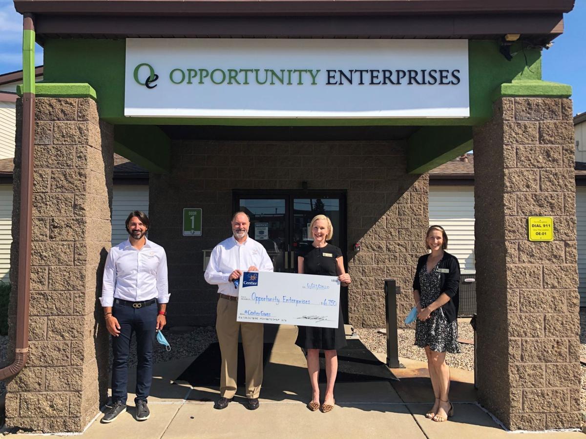Centier donates to help Opportunity Enterprises' job training