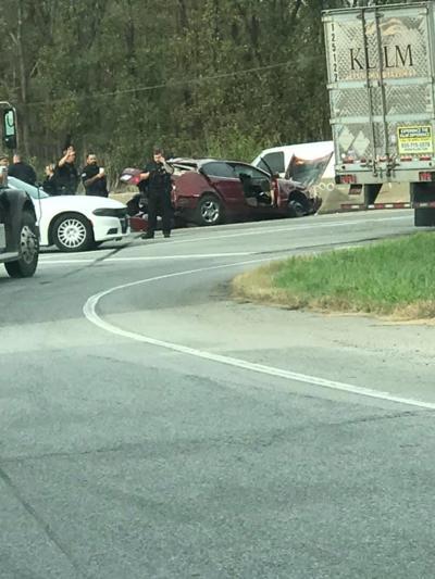 Crash after pursuit