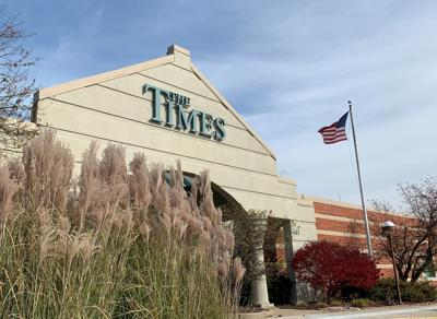 The Times building mug