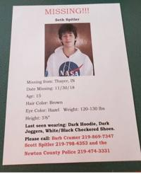 Missing 15-year-old Thayer boy reunited with family, police
