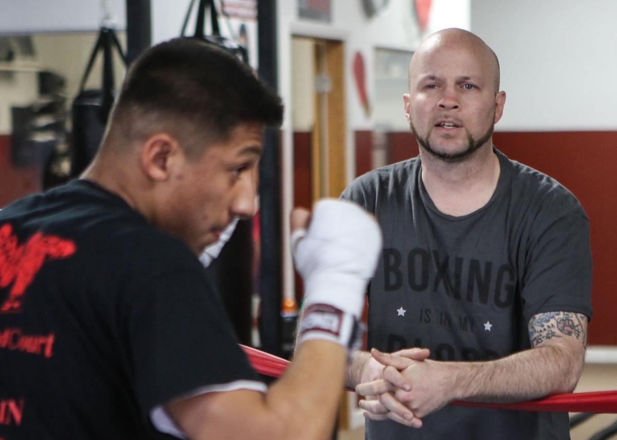 Region boxing legend Angel Manfredy has become a trainer at Carr's Boxing Gym