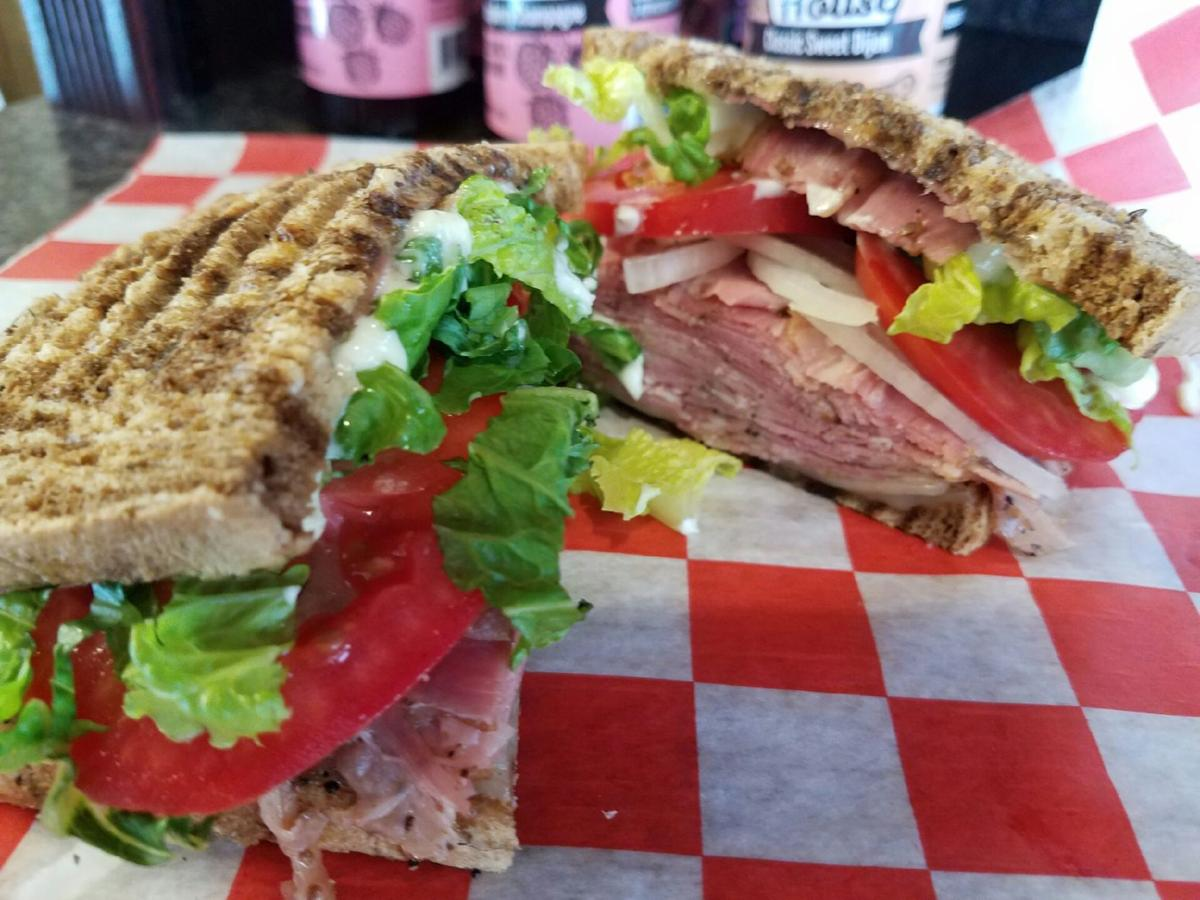 Pastrami and Swiss Sandwich