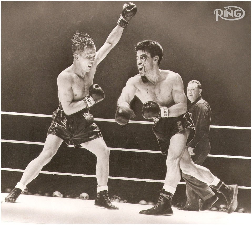Boxing Champs Tony Zale and Rocky Graziano in the Ring