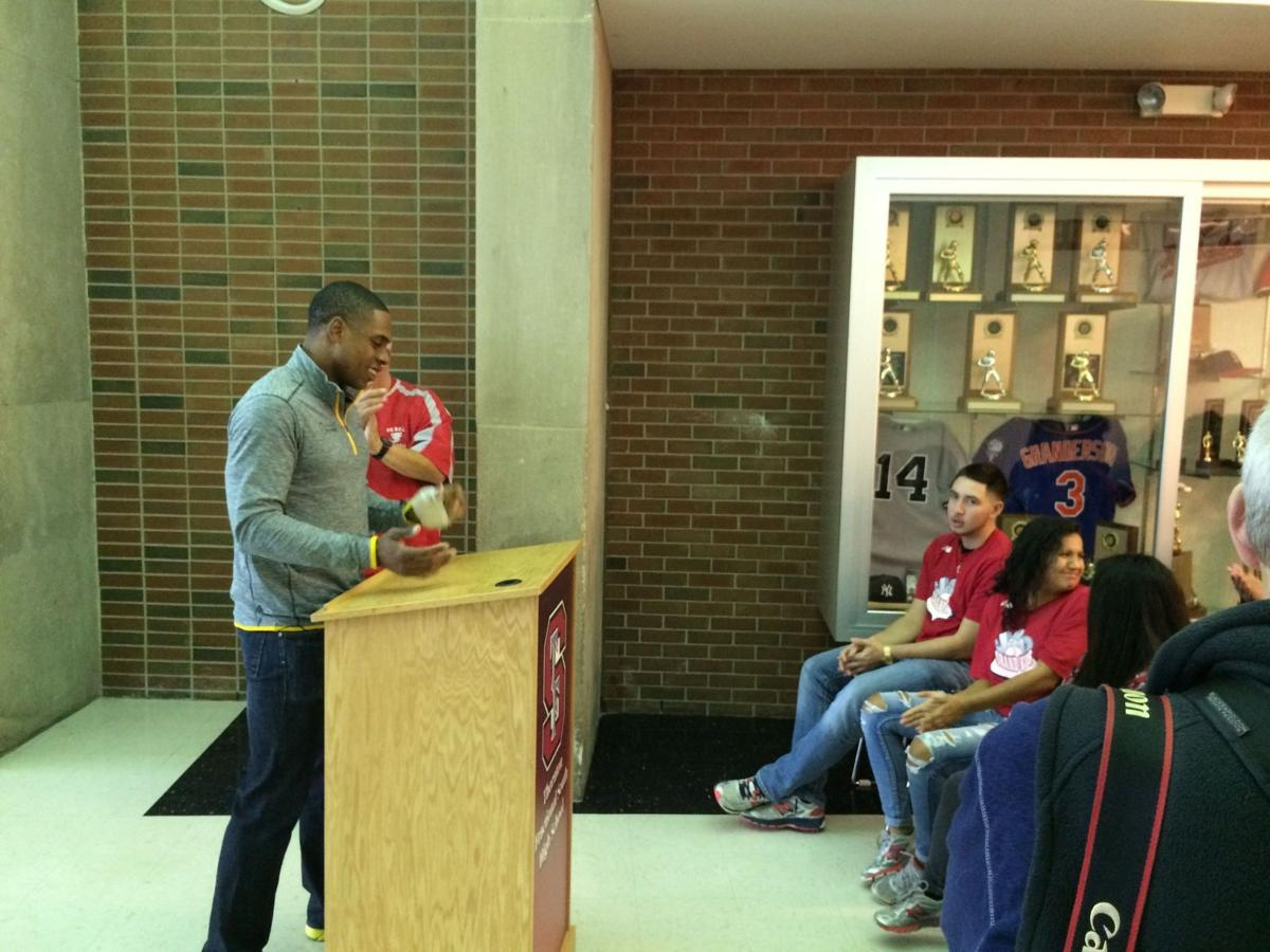 New York Mets outfielder and T.F. South grad Curtis Granderson