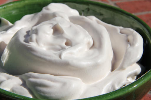 Make a low calorie whipped cream from an unlikely source