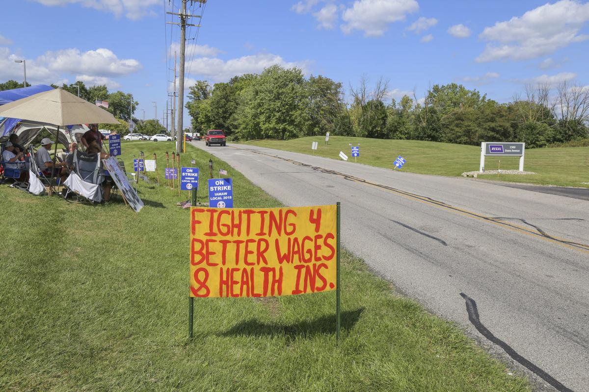Beloit Regal plant workers on picket line