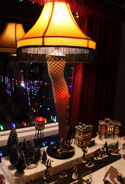 in the middle of rodda s a christmas story scene is the infamous leg lamp