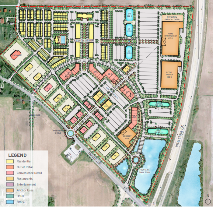 $185M mixed-use development eyeing site in Crown Point at I-65 and U.S. 231