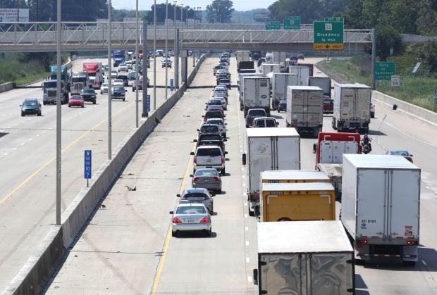 Pollution, traffic congestion stock