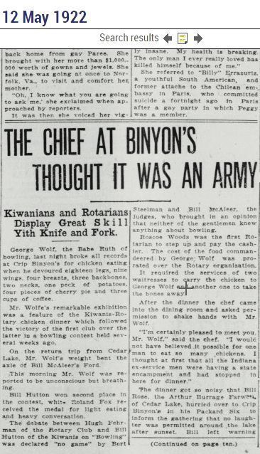 The chef at Binyon's thought it was an army