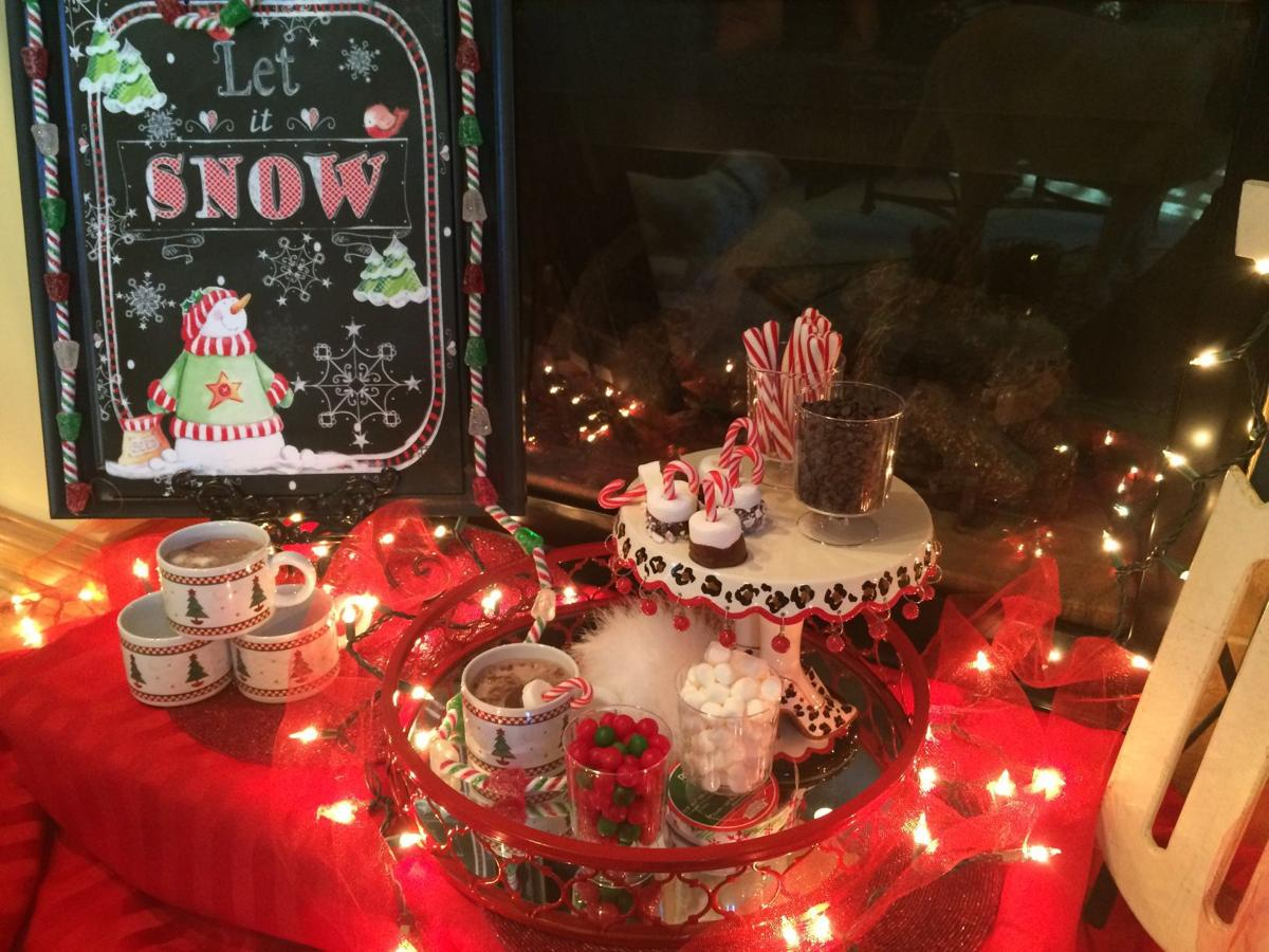A hot chocolate bar offers a toasty treat for all