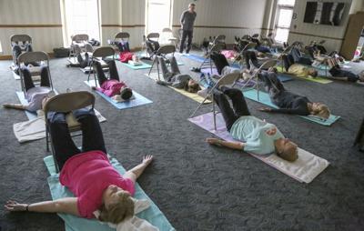 restorative Yoga class, Fitness Pointe