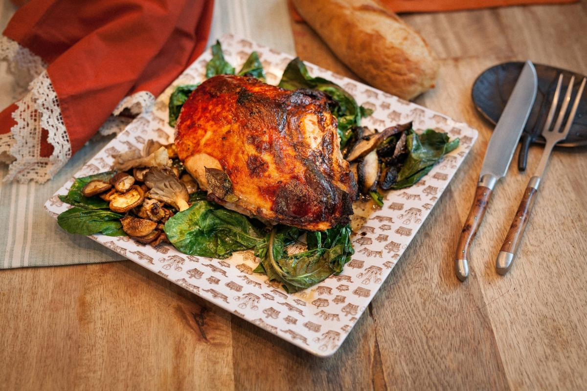 An autumn meal featuring the cool-weather flavors we crave