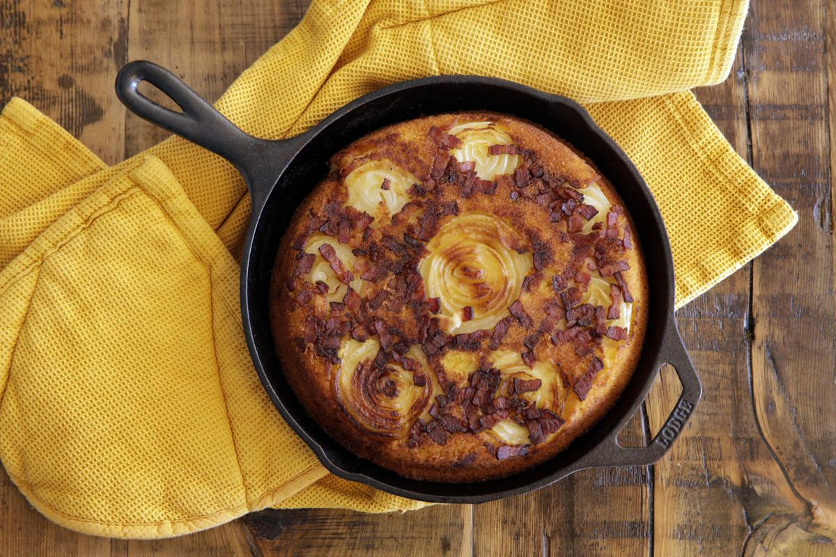 Food American Table Onion Corn Bread