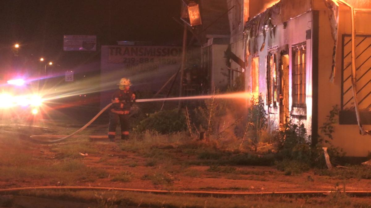 Multiple Structures Burn on Ridge Road in Gary