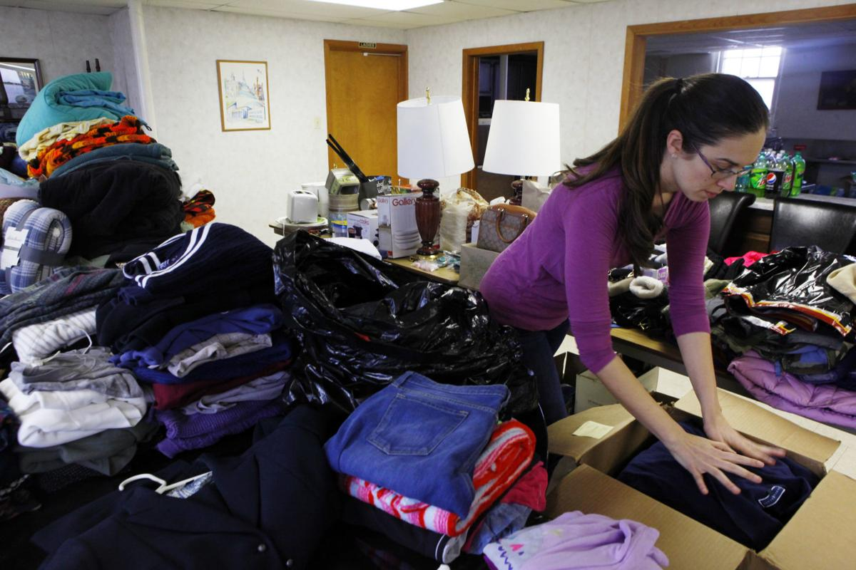 Donations collected at Community of Christ Church in Highland