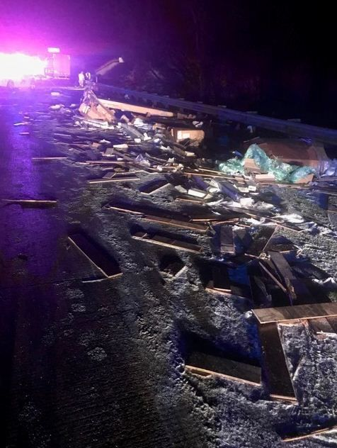 Several lanes on westbound I-94 remain closed after man killed in two-semi crash, police say
