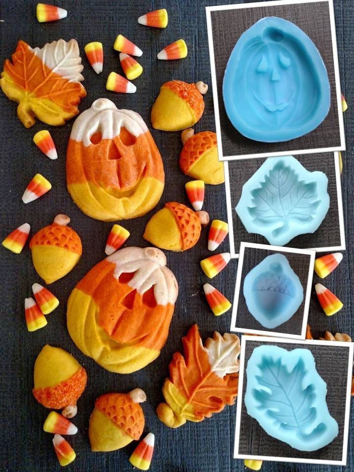 Candy Corn, maple and pumpkin molds