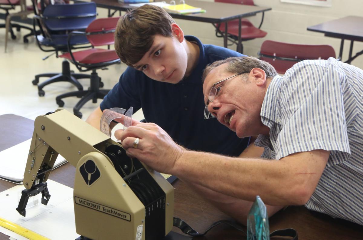 Robotics class at Clark High School