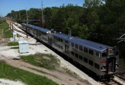 Double-decker South Shore rail car