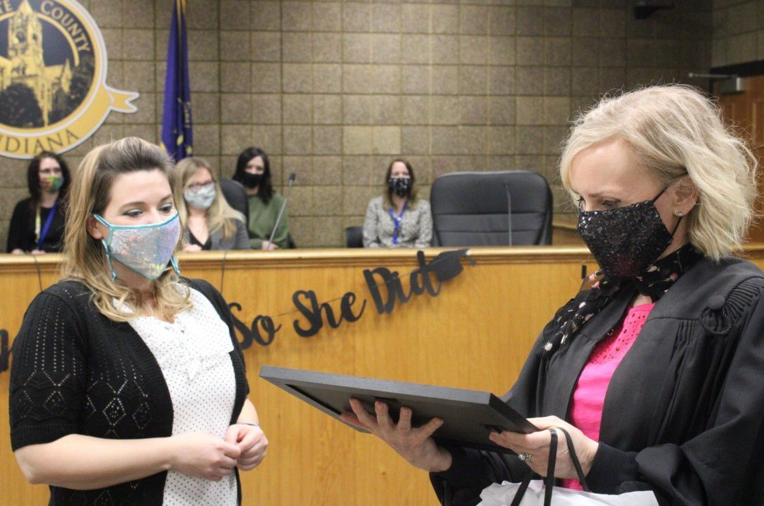 Family Recovery Court graduates first client
