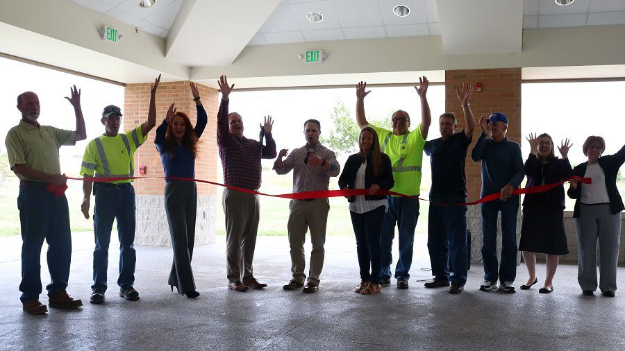 Open-air pavilion ready for business in Portage