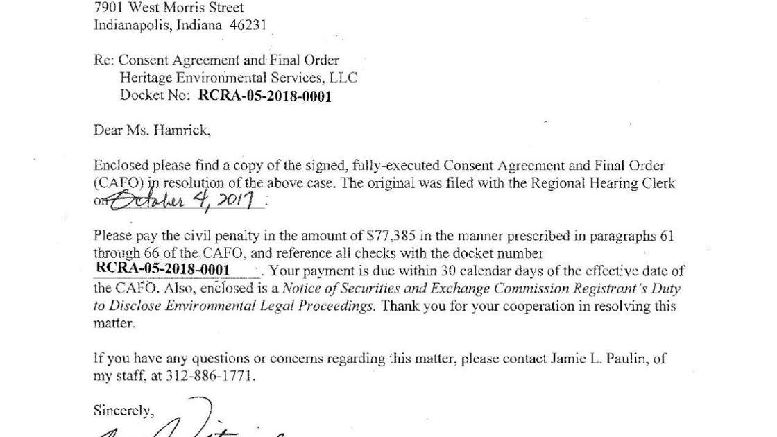 Heritage Environmental Consent Decree Nwitimes