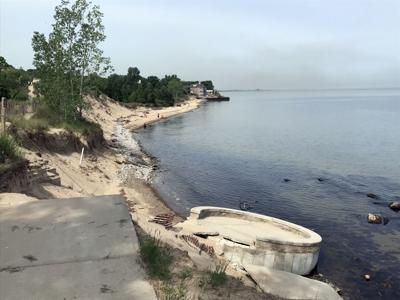 Beach Access To Portage Lakefront Closed Due Continued Eroision