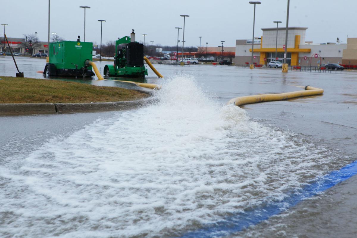 Flooded Target parking lot