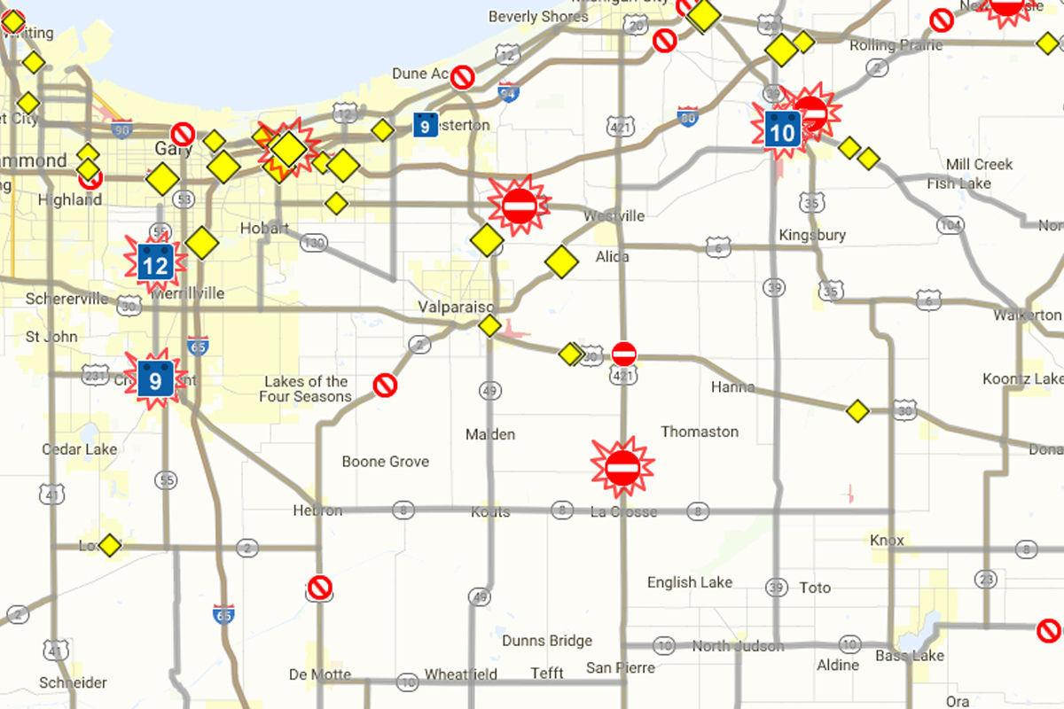 Latest Region transportation news: INDOT online map details projects ...