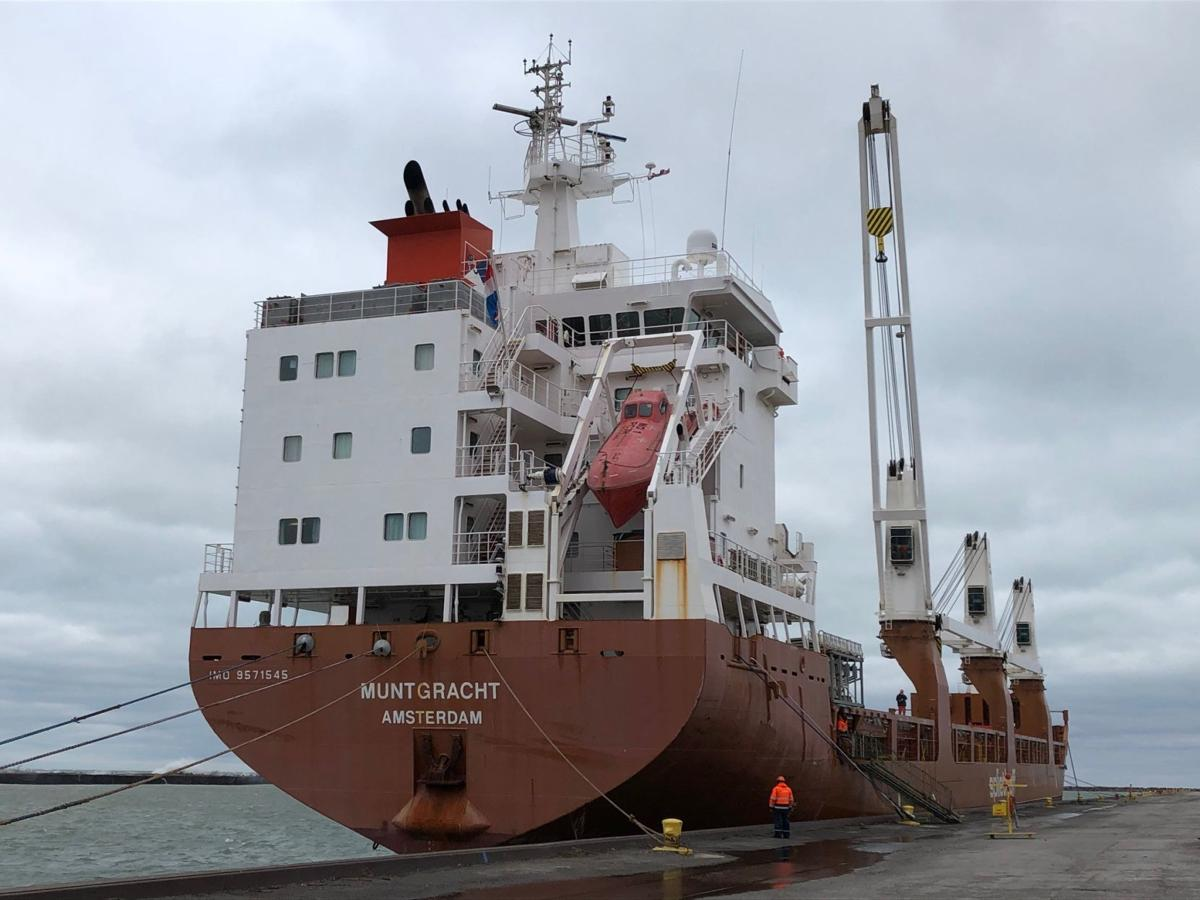 First ocean-going ship of the season arrives at Port of Indiana Burns Harbor